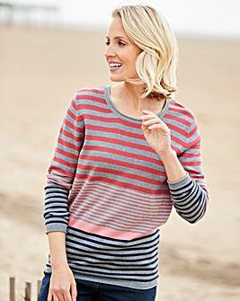 Julipa Coral Stripe Cotton Stripe Jumper