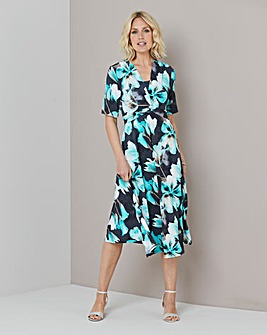 Julipa Knot Front Print Dress