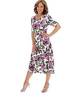 Slinky Print Panelled Dress