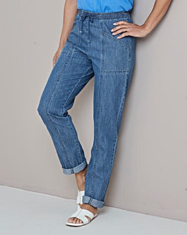Julipa Indigo Drawcord Jeans