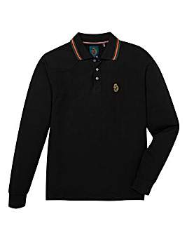 Luke Sport Stripe Collar LS Polo Long