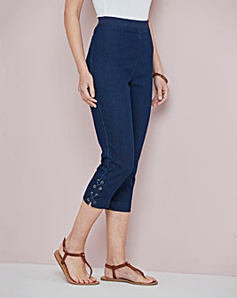 Julipa Cropped Jean with Lace up Detail