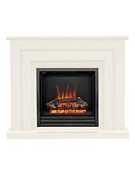 Be Modern Whitham Soft White Electric Fire Suite