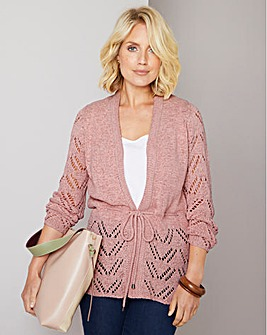 Julipa Pointelle Cardigan with Belt