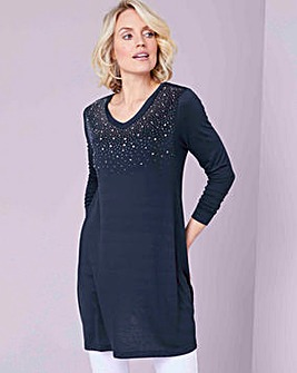 Julipa Jersey Tunic With Heat Seal