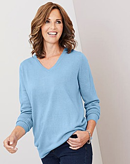 Julipa Sky Blue Super Soft V Neck Jumper