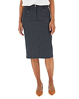 Julipa Spot Print Stretch Pencil Skirt 23