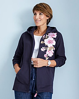 Julipa Leisure Floral Zip Through Hoodie