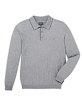 Peter Werth Cristo Knited Polo With Contrast Tipping