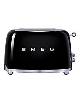 Smeg TSF01 2 Slice Black Toaster