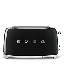 Smeg TSF02 4 Slice Black Toaster