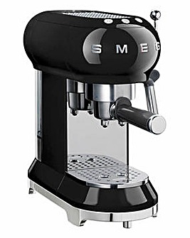 Smeg Retro Black Espresso Coffee Machine