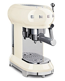 Smeg ECF01 Retro Style Cream Espresso Coffee Machine