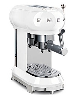 Smeg Retro White Espresso Coffee Machine