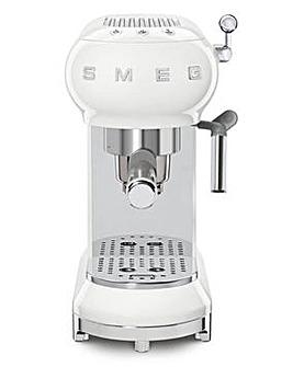 Smeg ECF01 Retro Style White Espresso Coffee Machine