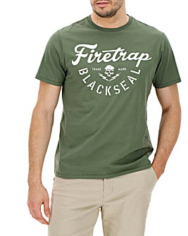 Firetrap Graph T-Shirt Long