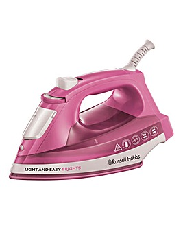 Russell Hobbs 25760 2400W Light & Easy Bright Rose Steam Iron
