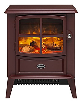 Dimplex Brayford Burgundy Electric Fire Stove