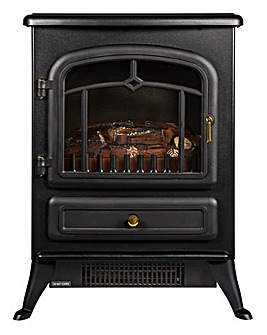Russell Hobbs Black Electric Fire Stove