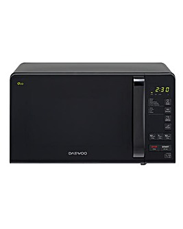 Daewoo 800W Black Digital Microwave