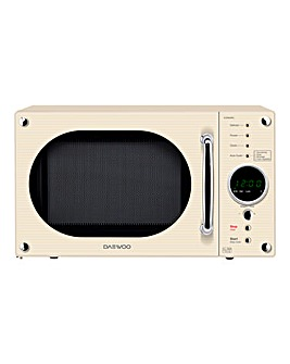 Daewoo 800W Cream Touch Microwave