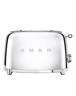 Smeg TSF01 2 Slice Stainless Steel Toaster