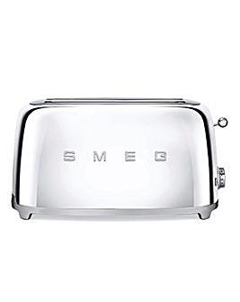 Smeg TSF02 4 Slice Steel Toaster