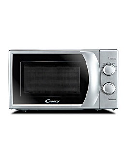 Candy 20 Litre Manual Silver Microwave