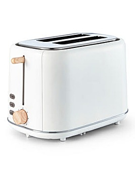 Tower Scandi 2 Slice White Toaster