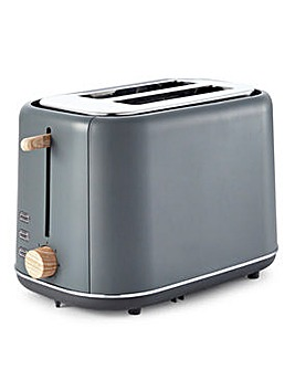 Tower Scandi 2 Slice Grey Toaster