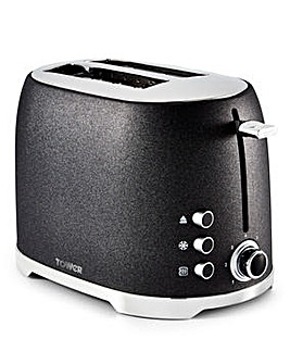 Tower Glitz 4 Slice Black Toaster