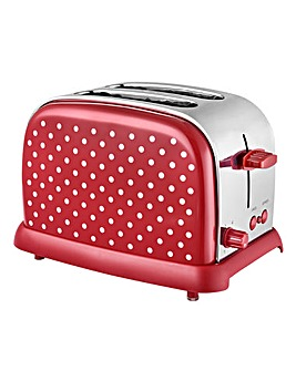 Kitchen Originals Polka 2 Slice Toaster