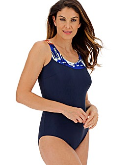 Panelled Sports Swimsuit