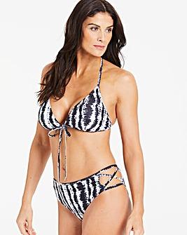 Strap Back Halterneck Bikini Top