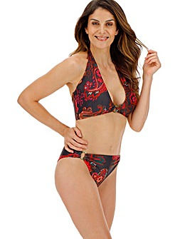 Ring Detail Halterneck Bikini Top