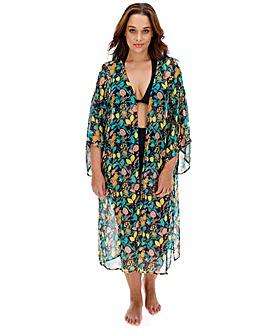 Sunseeker Chiffon Printed Maxi Kimono