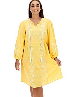 Sunseeker Embroidered Beach Dress