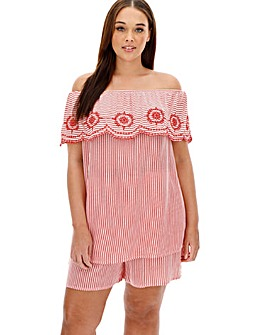 Fiesta Embroidered Bardot Co-Ord