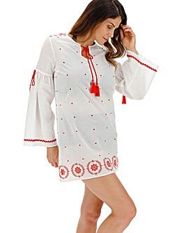 Fiesta Embroidered Beach Dress