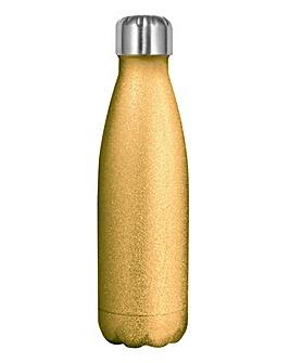 Myga Metal Drinks Bottle - Glitter Gold