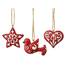 Heartwood Creek Set of 3 mini ornaments