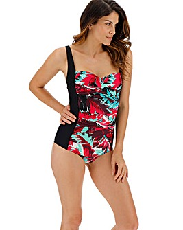 MAGISCULPT Twist Front Panelled Swimsuit