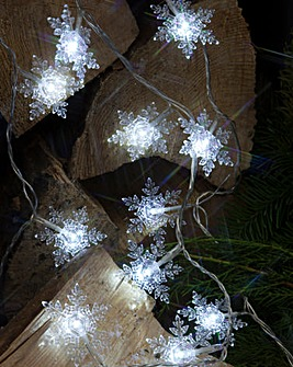 Crystal Snowflake Garland