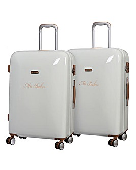 Set of 2 Large Personalised Suitcases