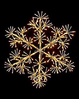 Gold Starburst Snowflake
