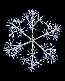 Silver Starburst Snowflake