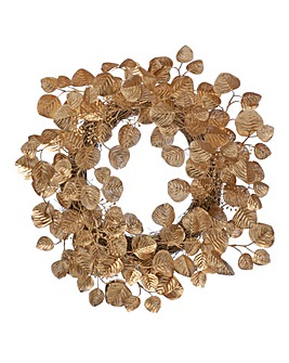 Matt Gold Eucalyptus Wreath