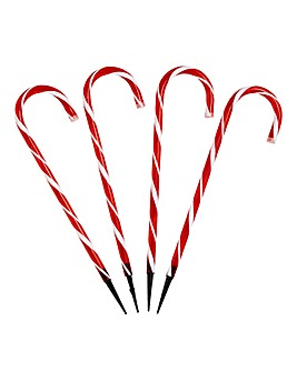 4 Candy Cane Stakes