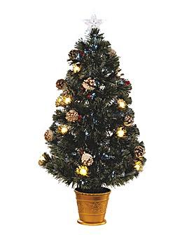 Berry & Cone Fibre Optic Tree 150cm