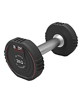 Body Sculpture 2.0kg TPU Coated Dumbbell